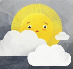 Keine Sonne Illustrationen für das Kartenspiel der Gemüseackerdmie von Jennifer Daniel