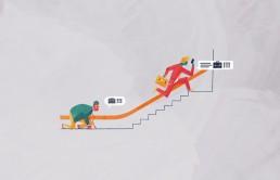 Illustration Business Friends - Handelsblatt Karriere