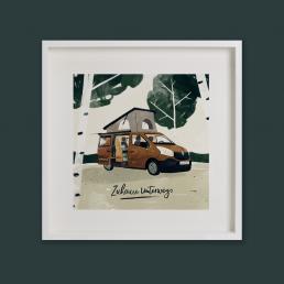 Campingbus Kompanja Illustration von Jennifer Daniel