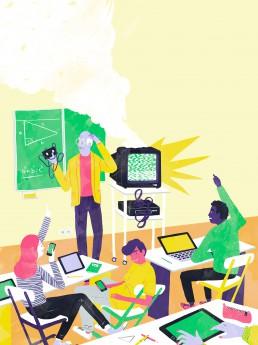 Digitalisierung an Schulen - Yeaz Jugendmagazin - Illustration von Jennifer Daniel